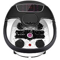 Foot Spa Bath Massager with Heat, Bubble Jets, Pedicure Stone, Motorized Shiatsu Massage Roller to Relieve Feet Stress…