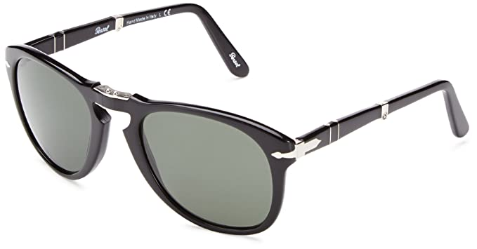 0dae651fae19 Persol PO0714 95/31 Black PO0714 Round Sunglasses Lens Category 3 Size 52mm