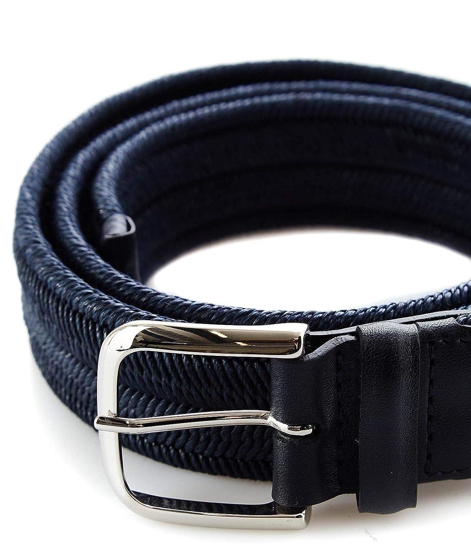 Orciani Mens U07200BLUE Blue Leather Belt