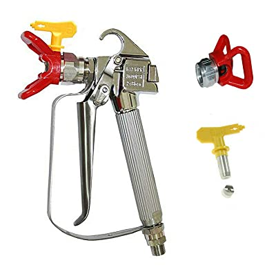 NuaDua Airless Paint Spray Gun with Tip & Tip Guard High Pressure 3600 PSI 517 TIP: Automotive