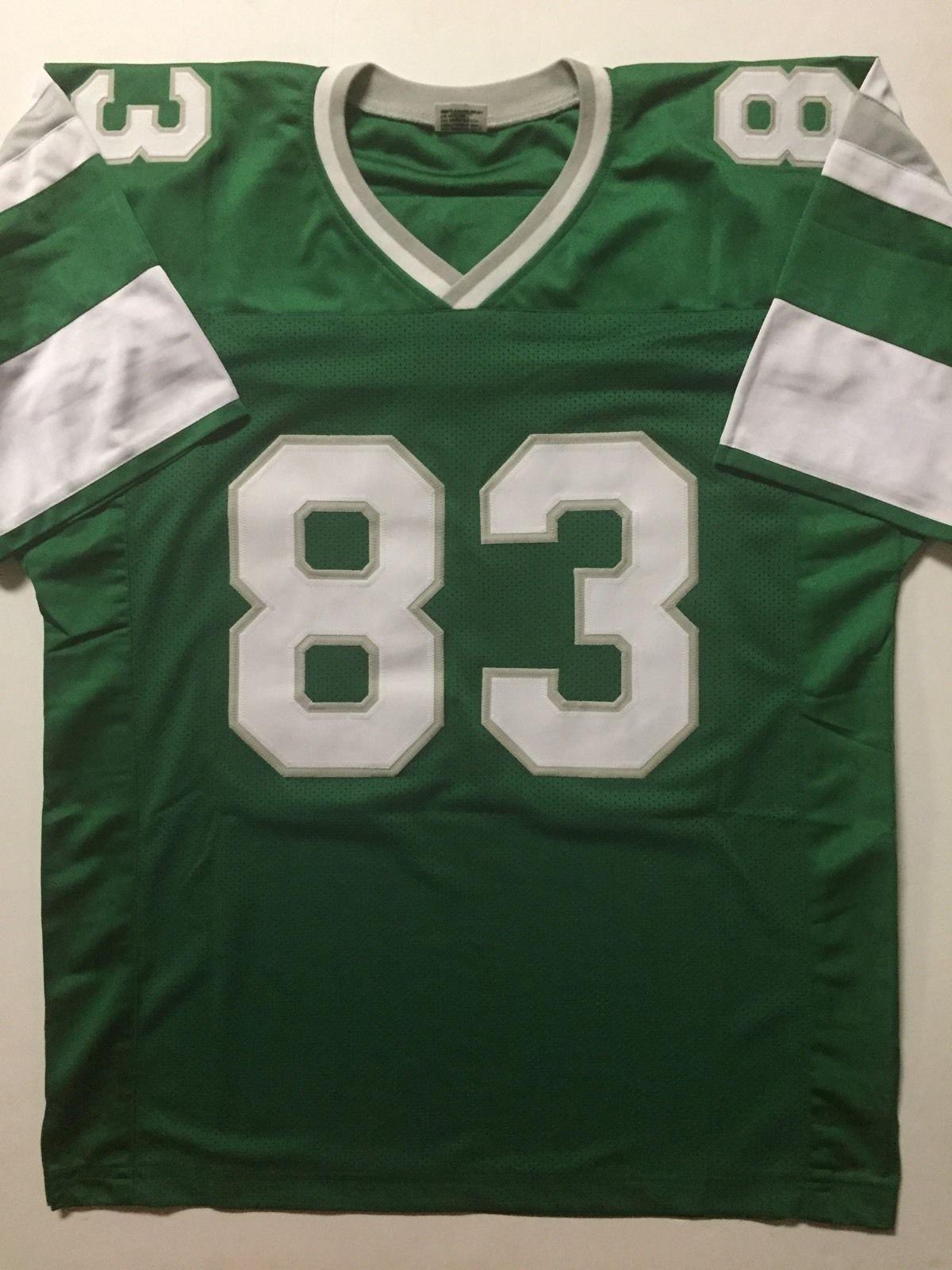 Autographed/Signed Vince Papale Philadelphia Green Football Jersey JSA COA