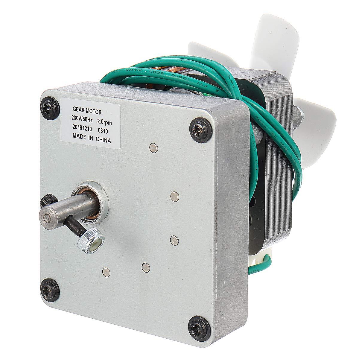 # 001 Forspero 50Hz 1.5//2.0 Rpm Motor De Barrena De Repuesto Para Pit Boss Parrilla De Fumador De Pellets De Madera El/éctrica