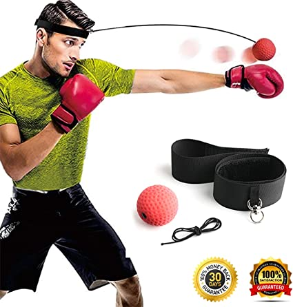US Ball Reflex Speed Fight Boxing Training Speed Punch Head Cap String Ball New