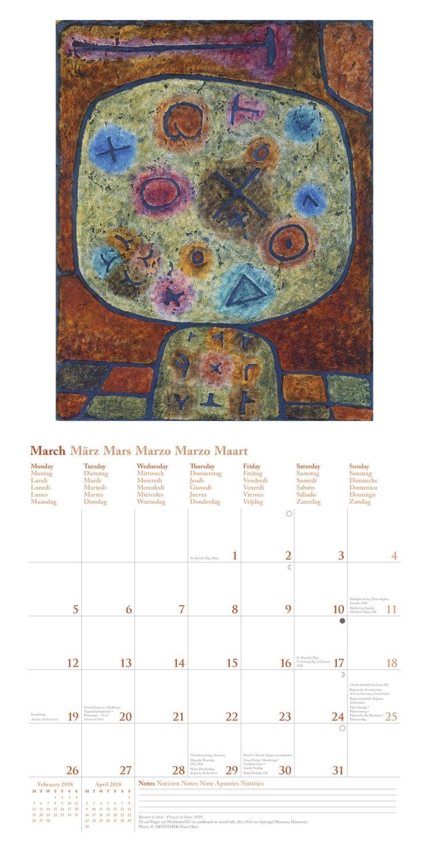 2018 Klee Calender - teNeues Grid Calendar- Art Calender ...