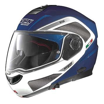 Nolan N104 Evo Tech N- Com - Casco modular de moto azul azul Talla: