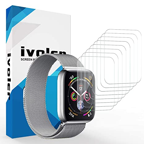iVoler 8 Unidades Protector de Pantalla para Apple Watch 44mm / 42mm (Series 4/