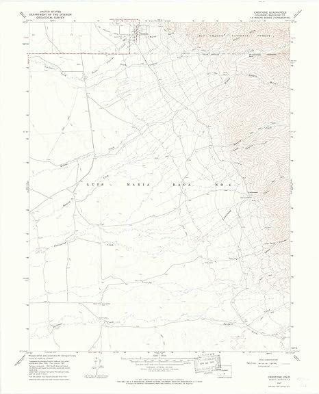 Amazon Com Yellowmaps Crestone Co Topo Map 1 24000 Scale 7 5 X
