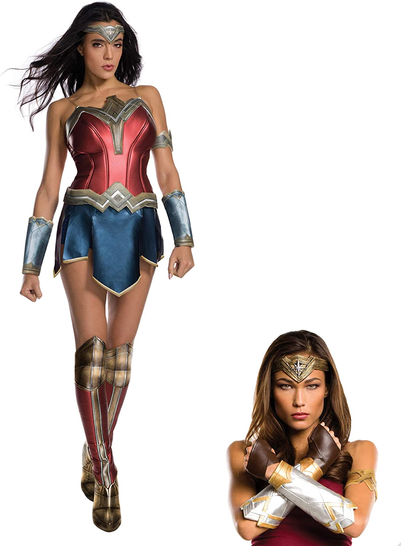 Wonder Woman Deluxe Set Tiara Gauntlets Armband Glovelets Womens Cosplay Costume