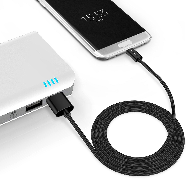 USB C Kabel auf USB 3.0 Snowkids [2 Stück] 2m USB Type C Ladekabel, Nylon Type-C kabel für Samsung Galaxy S8 Plus,Note 8, Huawei P10/P9, Sony Xperia XZ, Lumia 950/950XL,Nexus 5X/6P,HTC 10/U11,OnePlus