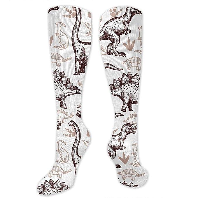 74fcdbf0a23 Amazon.com  Dinosaurs Footprints Pattern Knee High Socks