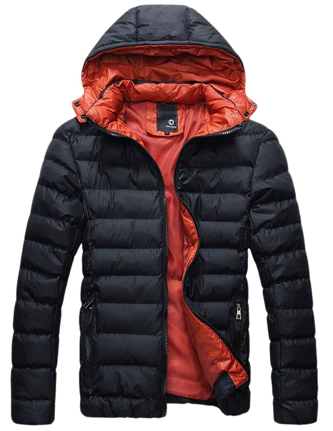 9e8cebcc1c chouyatou Men s Winter Waterproof Frost-Fighter Hooded Puffer Jacket at  Amazon Men s Clothing store