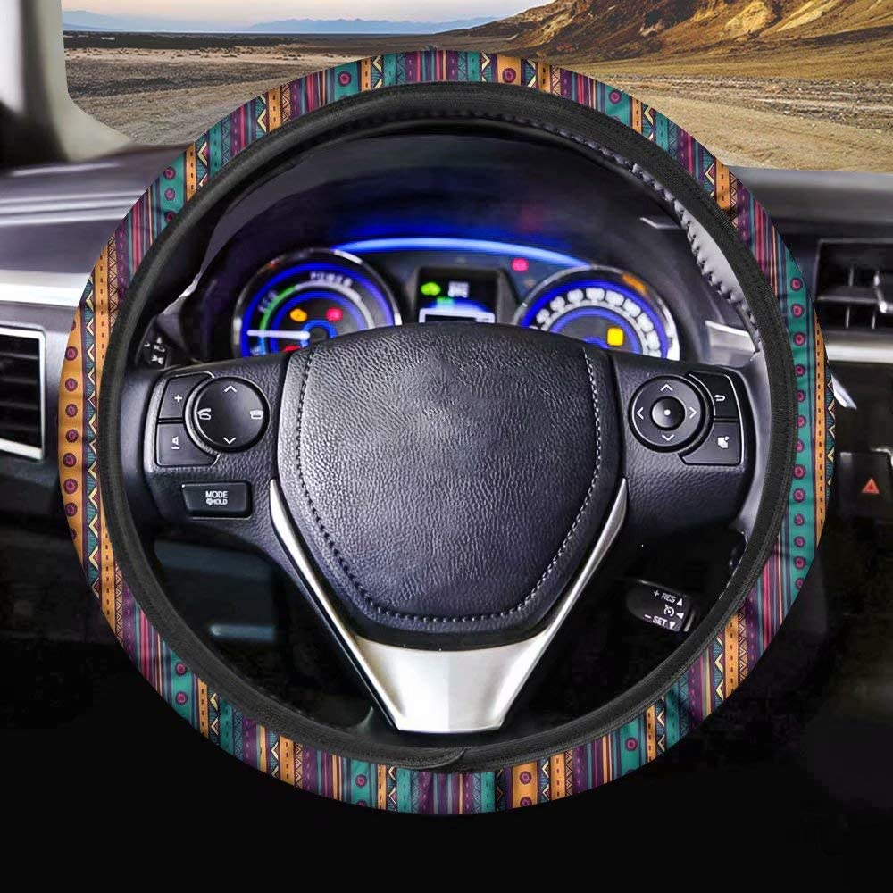 chaqlin Stylish Sea Turtle Car Steering Wheel Cover for Women and Girls,Universal 15 inch Breathable Anti Slip Auto Steering Wheel Covers
