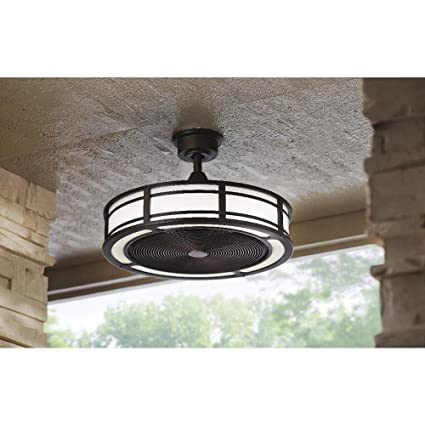 Brette Indoor/Outdoor Ceiling Fan with Two 23W LED Light Strips, 23 ...