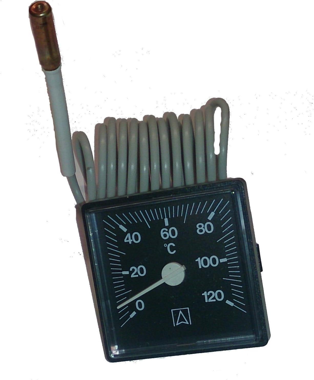 Kessel Thermometer 45 Mm X 45 Mm Anzeigebereich 0 120 C M Kapillarleitung 1500mm Baumarkt