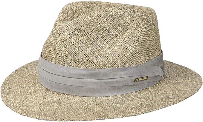 Stetson Cappello di Paglia Caney Seagrass Uomo - Cappelli da Spiaggia Sole  Traveller con Nastro in Grosgrain Primavera/Estate: Amazon.it: Abbigliamento