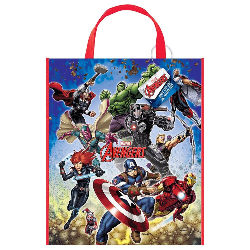 Large Plastic Avengers Goodie Bag, 13'' x 11''