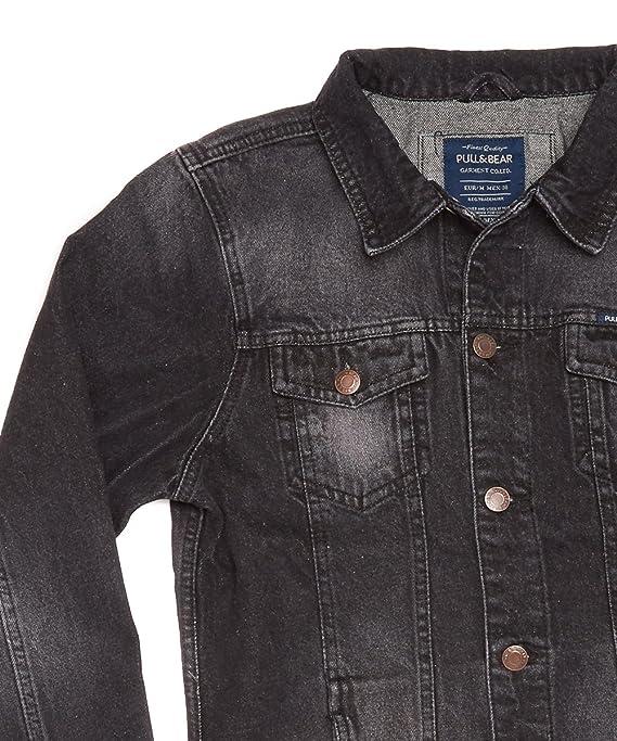 e560b2b53424e6 Brand New Pull Bear Men s Black Wash Denim Jacket S-XL (Black Wash ...