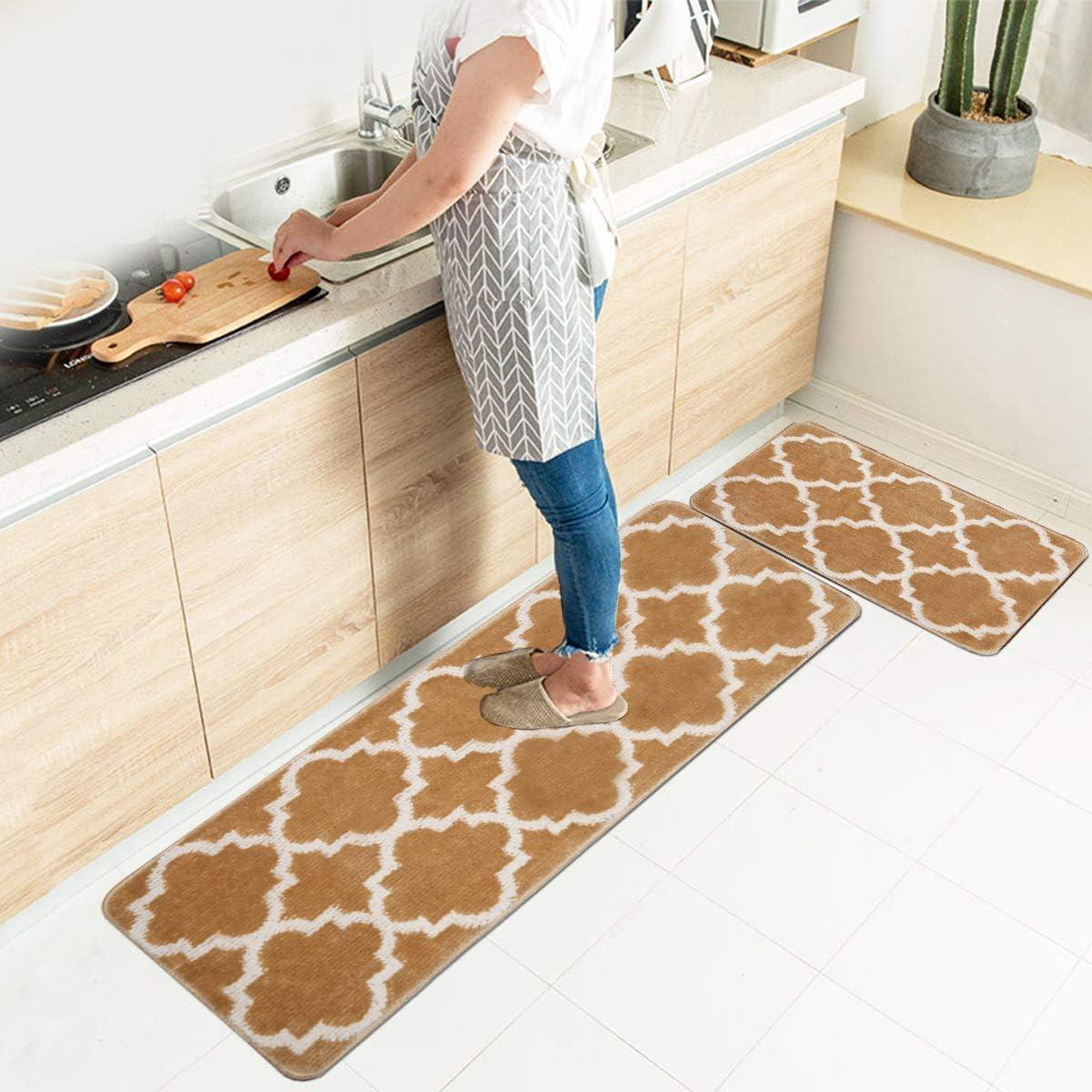 9x9+9x9 HEBE Kitchen Rug Set of 9 Pieces Non Slip Machine ...
