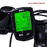 SOONGO Bike Computer Wireless Waterproof MPH&KM Cycle Speedometer With 16/32 Functions Multifunctional Bicycle Accessoreis Large LCD Display Backlight