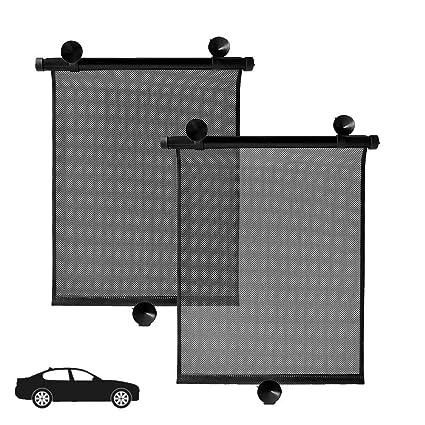 282029cccbb IC ICLOVER Car Side Window Sun Shade  2 Pack  Universal Car Window Roller  Shade