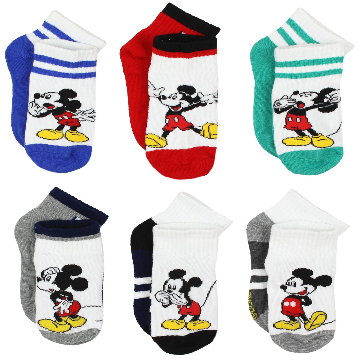Mickey Mouse Little Boys 6 pack Socks (Toddler) manufacturer