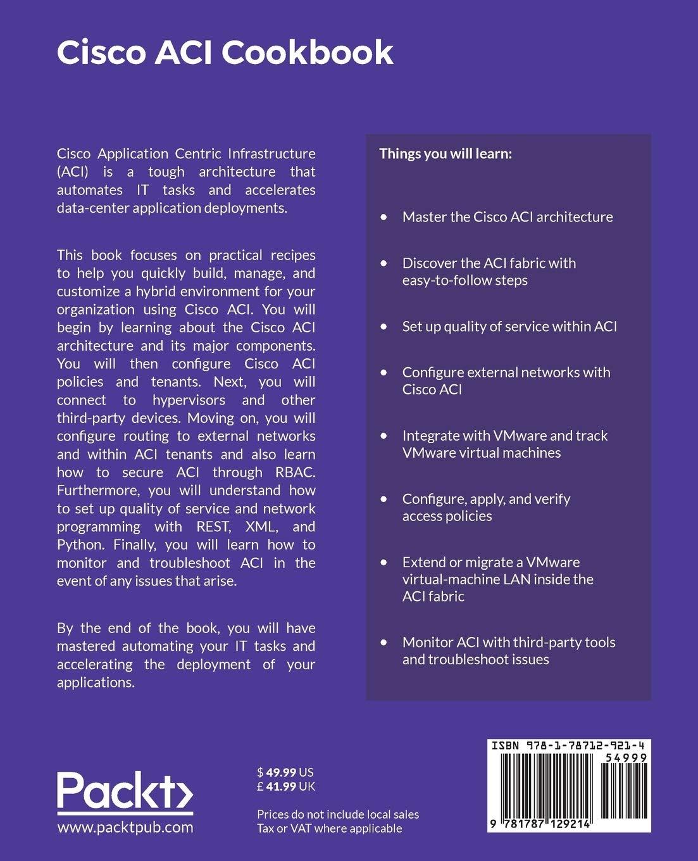 Amazon com: Cisco ACI Cookbook: A Practical Guide to