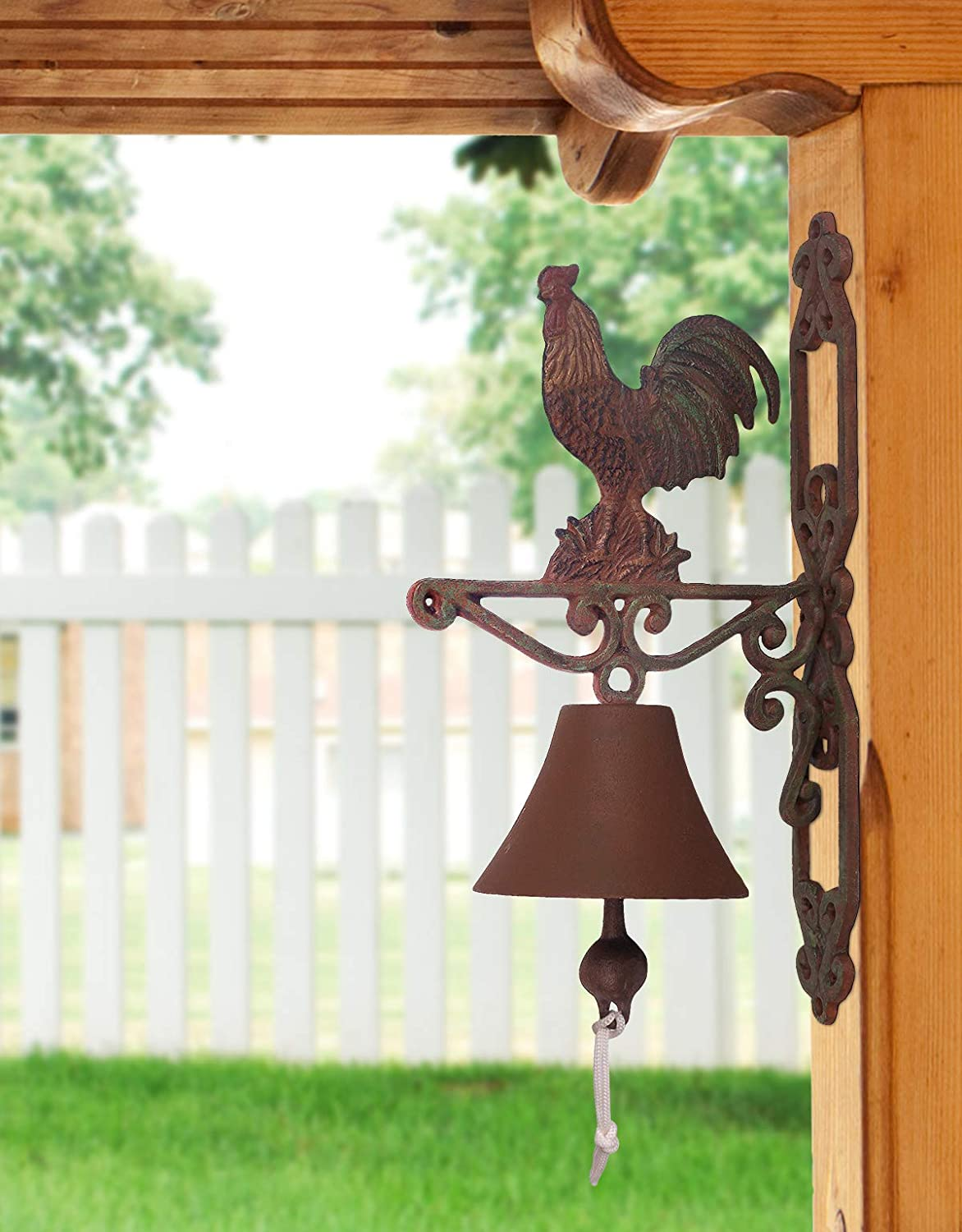 Sunset Vista Designs Painted Cast Iron Bell - Rooster