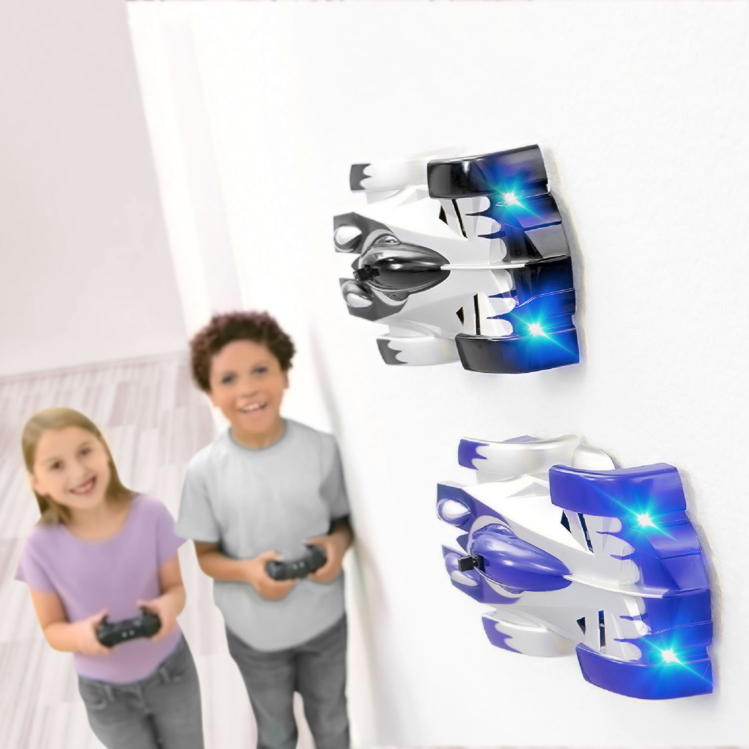 SGILE Remote Control Car Toy, Wall Climbing RC Car - Dual Mode 360° Rotating LED Head Stunt Car, Birthday Present Gift for Kids, Blue by SGILE (Image #6)