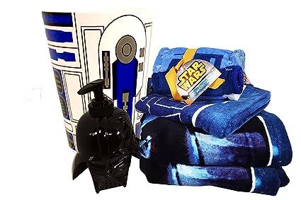 star wars bathroom set with 2 bath towels 1 hand towel 6 washcloths - Star Wars Bathroom