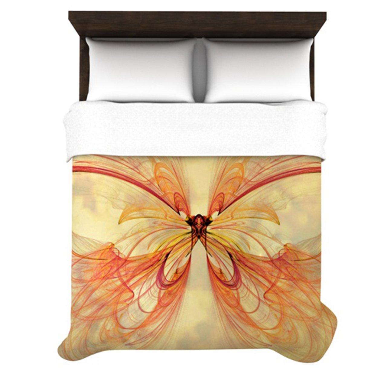 Kess InHouse Alison Coxon Papillon 88 by 88-Inch Duvet, Queen
