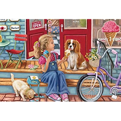 Gotry Puzzles 1000 Piece for Adults, Painting Scenery Jigsaw Puzzles Boring Toy at Home Micro-Sized Personalized Gift (Shopping Day): Toys & Games