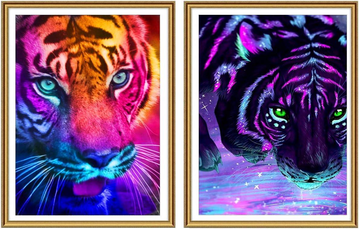 Tiger 5D DIY Full Drill Diamond Painting Cross Stitch Embroidery Kit Art Decor