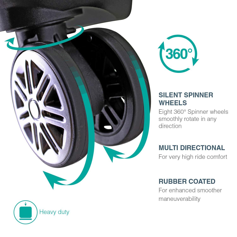 Amazon.com | Unibest Hardshell Luggage 3 Piece Set ...