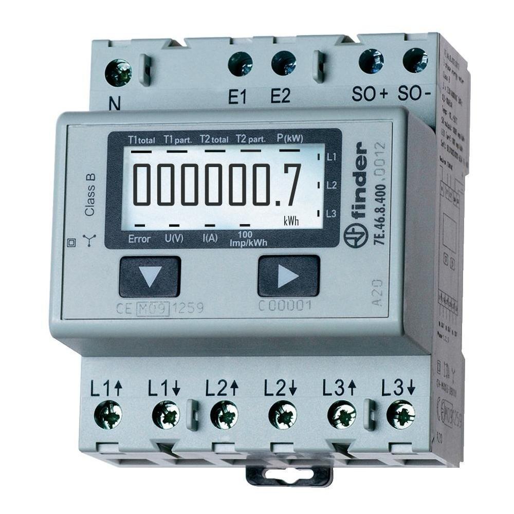 Finder Digital Rails Energies Meter 7e4684000012 Circuit Breaker Electronics