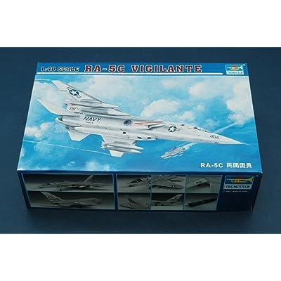 Trumpeter 1/48 RA5C Vigilante Aircraft Model Kit: Toys & Games