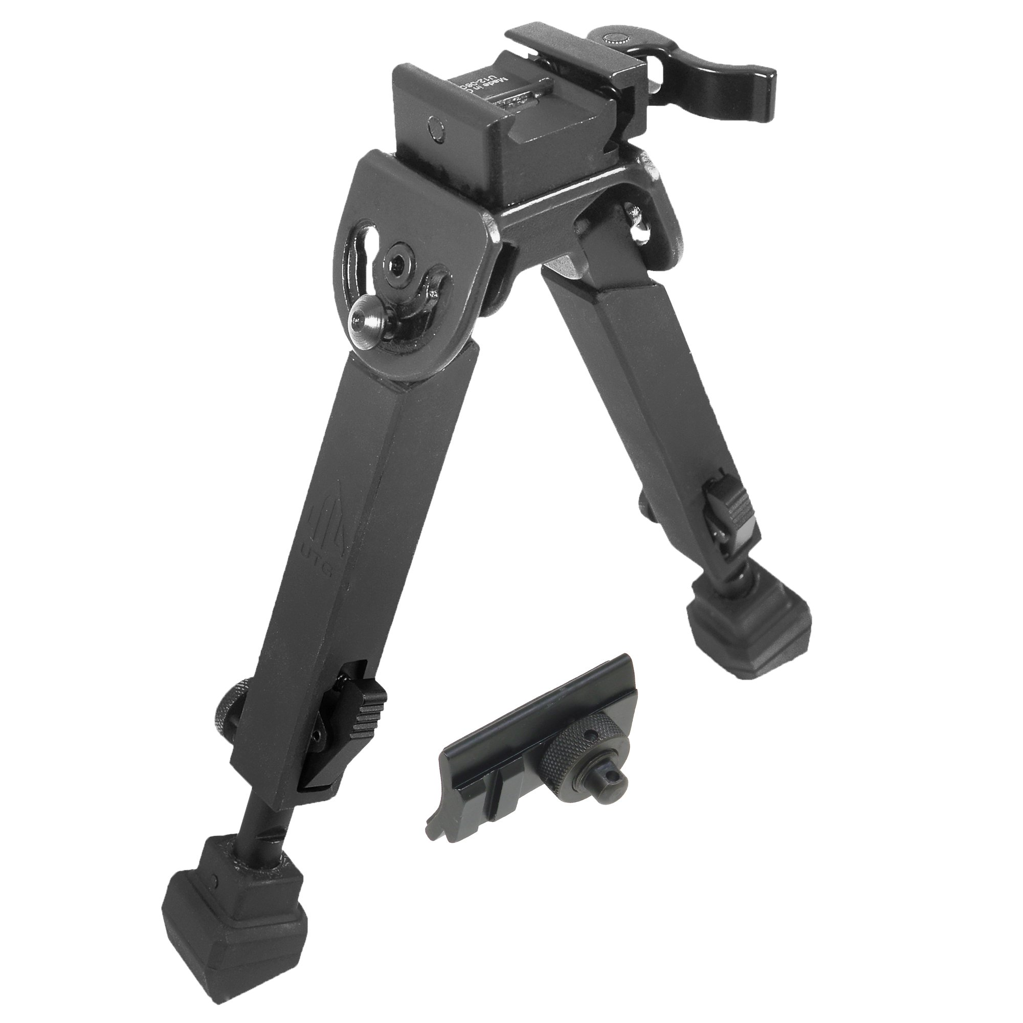 UTG Rubber Armored Full Metal QD Bipod, Height 6.0''- 8.5'' by UTG