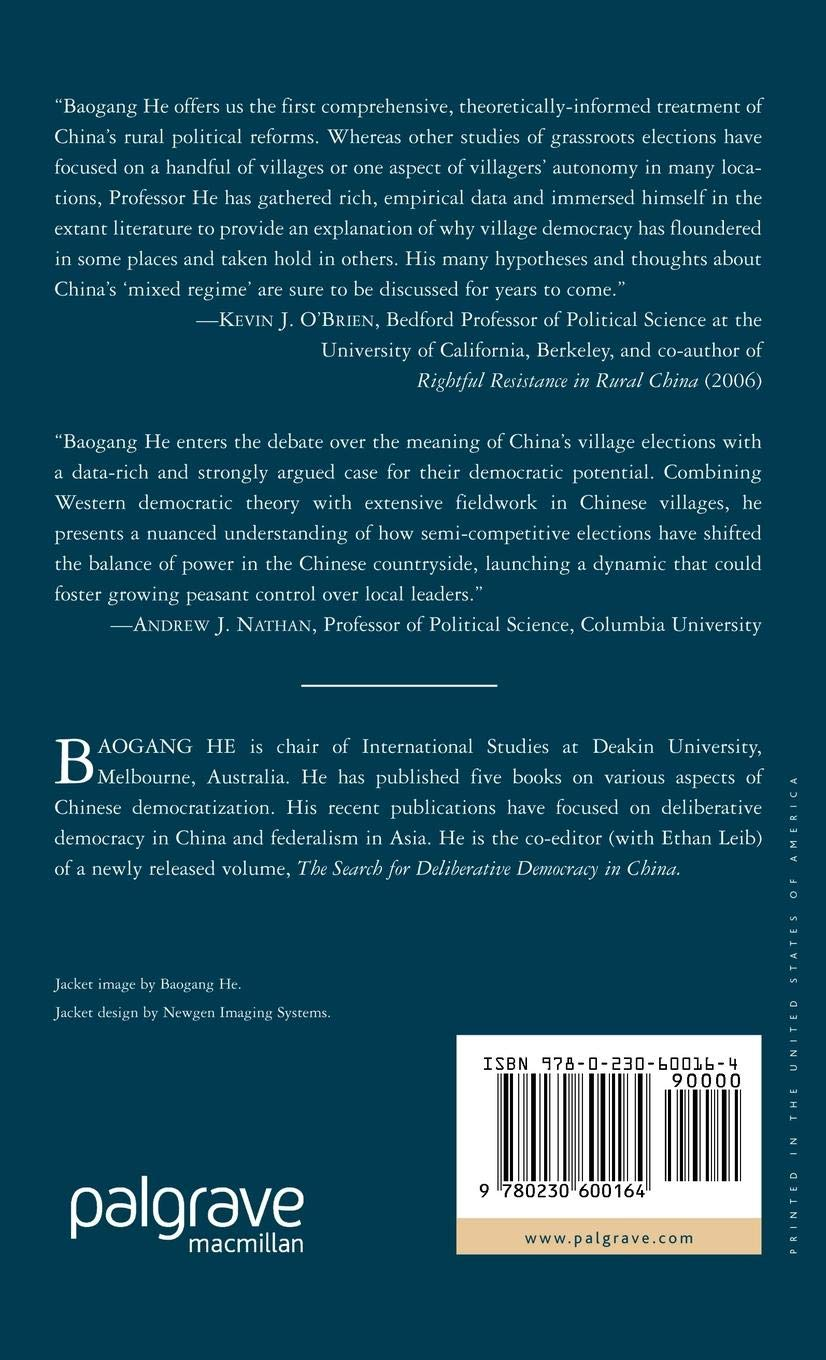 Buy Rural Democracy in China: The Role of Village Elections