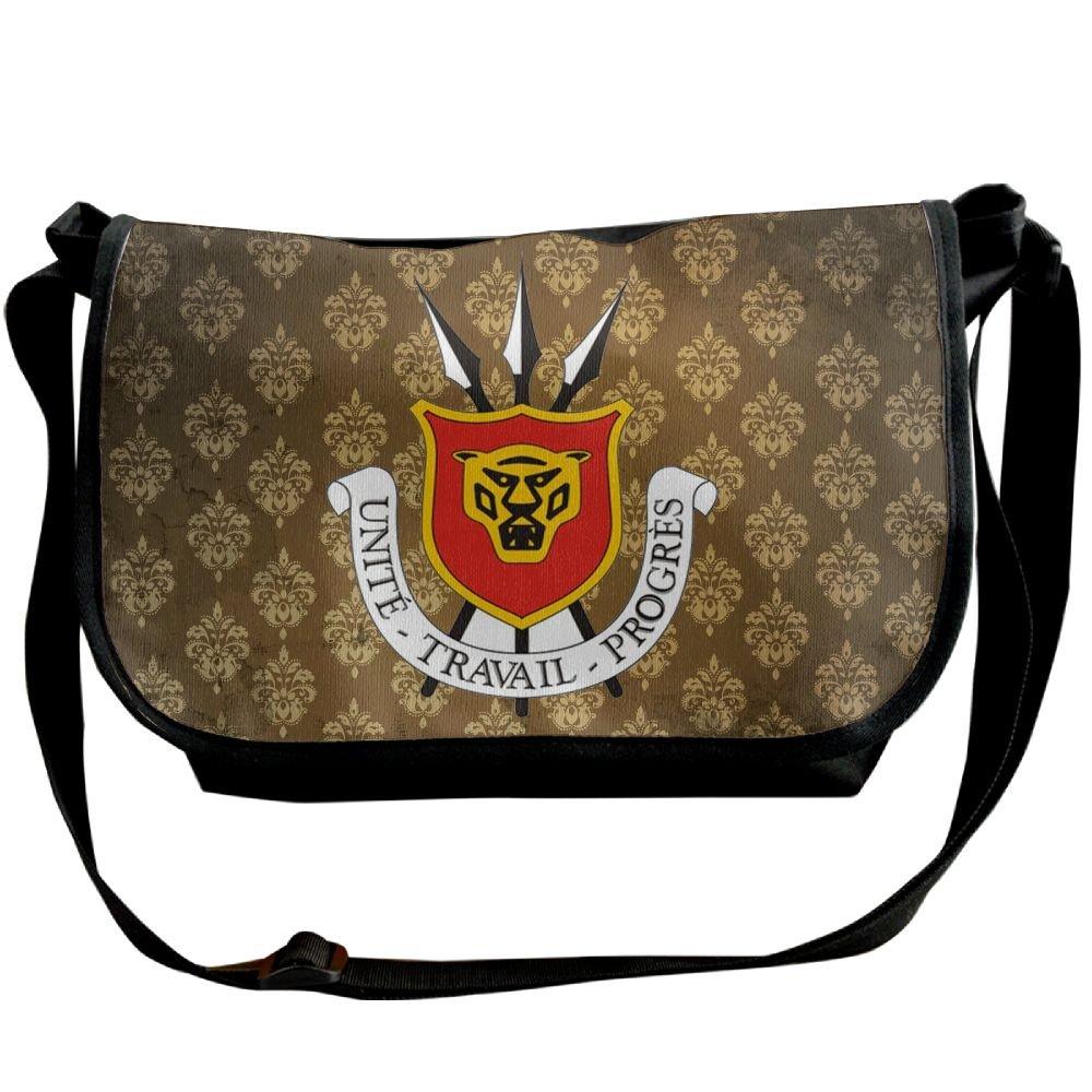 Lov6eoorheeb Unisex Coat Of Arms Of Burundi Wide Diagonal Shoulder Bag Adjustable Shoulder Tote Bag Single Shoulder Backpack For Work,School,Daily