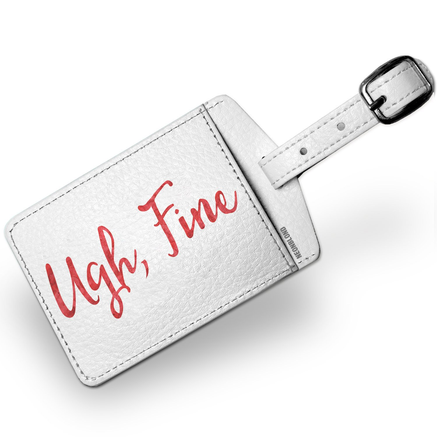 Luggage Tag Ugh, Fine Valentine's Day Red Watercolor - NEONBLOND
