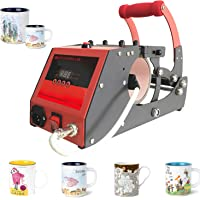 Heat Transfer Sublimation Cup Mug Heat Press Transfer Printing Machine for Coffee Mugs Cups with One Stainless Steel Mug Attachment 11OZ Bosstop