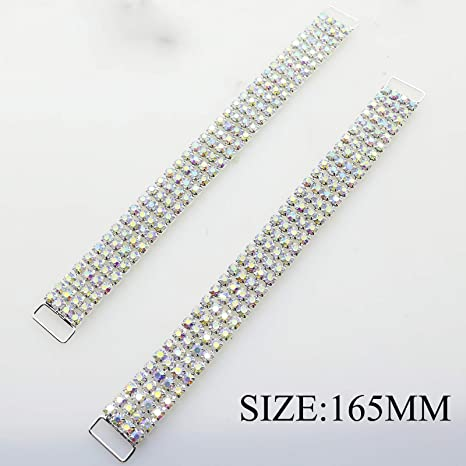 10pcs//lot 90mm Charm Metal Chain Buttons Crystal Rhinestone Bikini Swimwear Connectors// Buckle For Swimwear