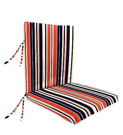 Classic Polyester Outdoor Large Club Chair Cushion With Ties, 44u0027u0027 X 22u0027