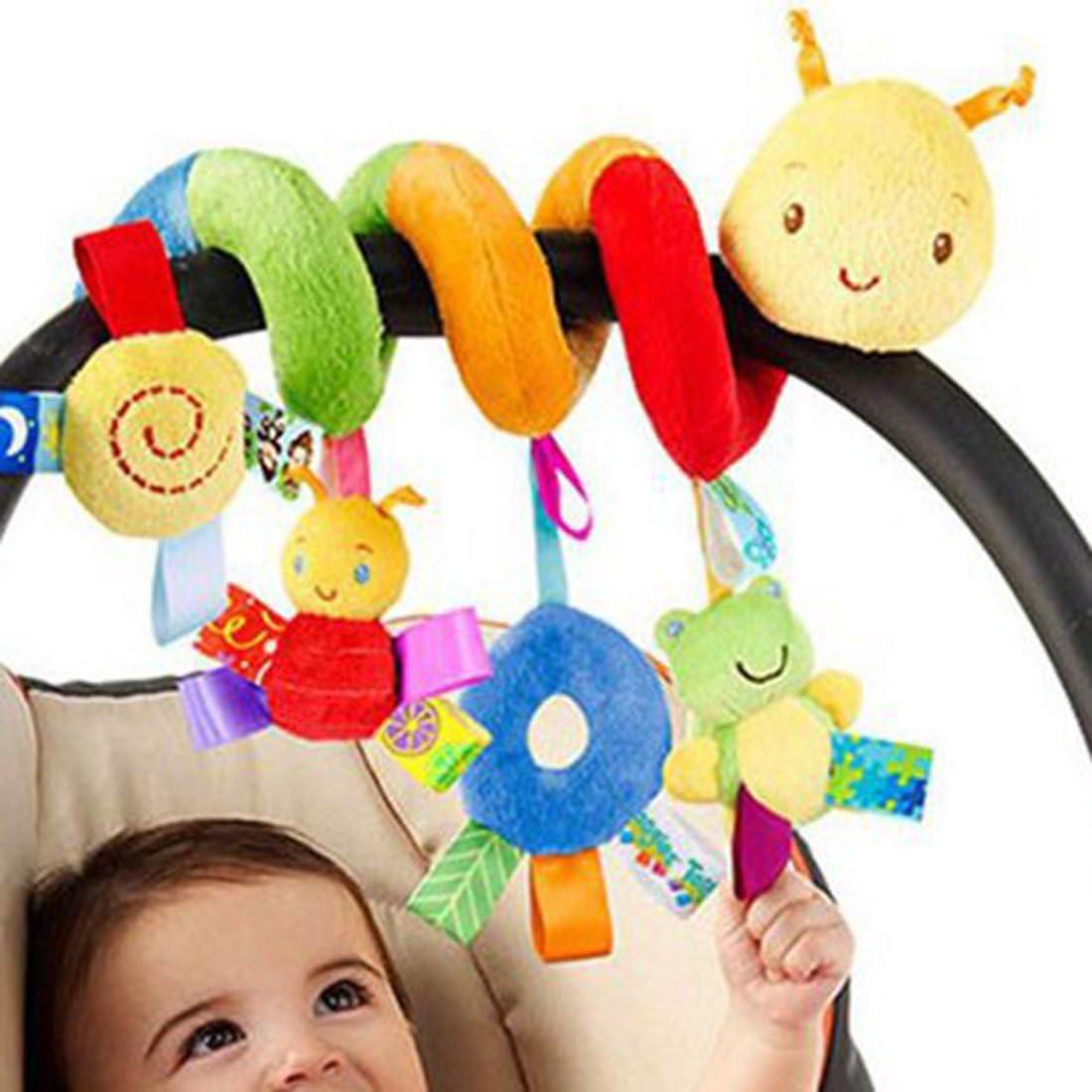 OuYou Espiral Actividades Colgar Juguetes del Cochecito de Bebé Juguetes Carro Asiento Cochecito Juguete con Campana de Timbre