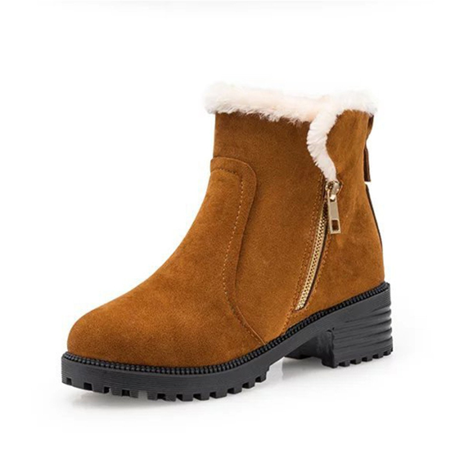 Women Shoes Cotton Warm Boots Short Snow Korean Style Mid Heel Boots Warm Knight Booties
