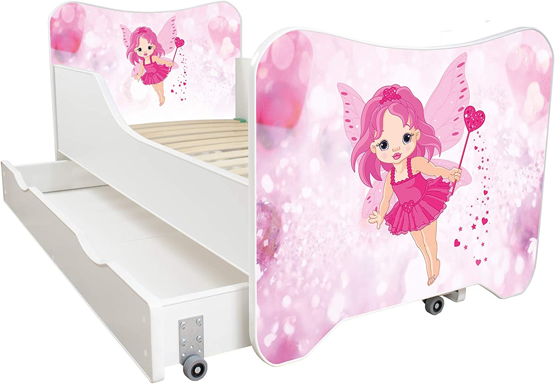 30 Designs!!! Princess and Horse Toddler Children Kids Bed Including Mattress Drawer 160x80!