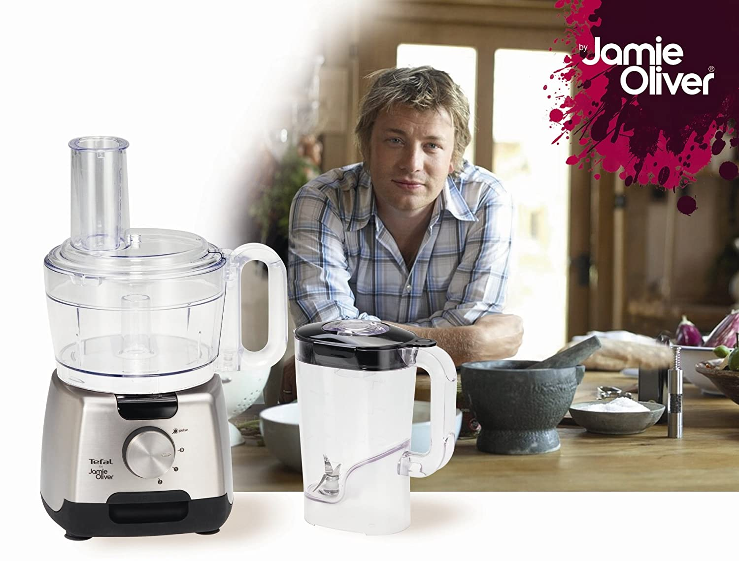 Amazon.de: Tefal DO250DA2 Kompakt-Küchenmaschine by Jamie Oliver