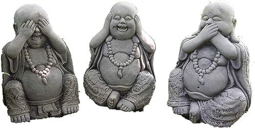 Estatuas de Buda de Piedra para jardín: Amazon.es: Jardín