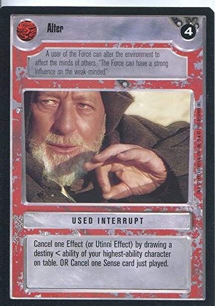 Star Wars CCG Premiere Black Border The Force Is Strong With This One
