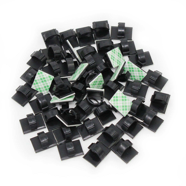 KEESIN 50 Stück selbstklebend Kabel Halter Kunststoff schnell Tie ...