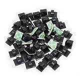 KEESIN 50 Stück selbstklebend Kabel Halter Kunststoff schnell Tie Kabel Clips KFZ Kabel-Organizer, Schreibtisch Wand Kabel Draht Clips